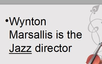 """Wynton Marsalis """"Why Toes Tap"""" Video guide, KEY, and PPT"""