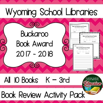 Wyoming Buckaroo Book Award 2017 - 2018 Library Lesson Reviews Pack K - 3