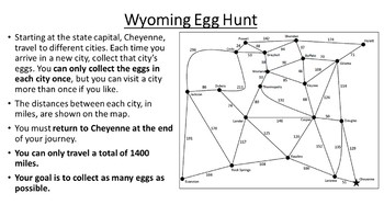 Wyoming Easter Math Activity