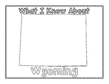 Wyoming Graphic Organizers (Perfect for KWL charts and geography!)