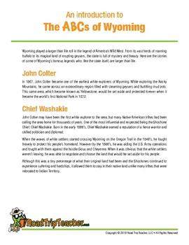Wyoming Handwriting Printables - Cursive Edition