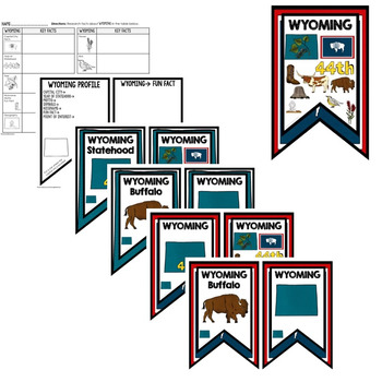 Wyoming History Word Wall, State Profile, Activity Pages