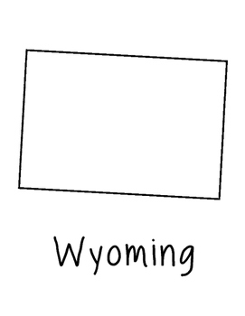 Wyoming Map Coloring Page Craft - Lots of Room for Note-Taking & Creativity