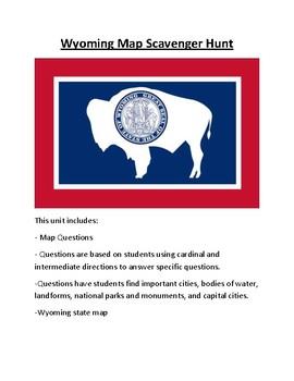 Wyoming Map Scavenger Hunt