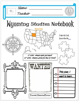 Wyoming Notebook Cover