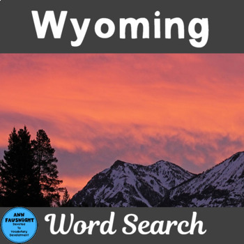 Wyoming Word Search