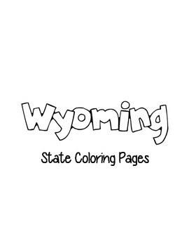 Wyoming State Coloring Pages