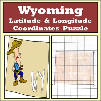 Wyoming State Latitude and Longitude Coordinates Puzzle - 5 Pts. to Plot - FREE!