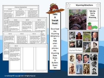 Wyoming State Study & Bulletin Board Set