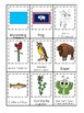 Wyoming State Symbols themed 3 Part Matching Preschool Literacy Card Game.