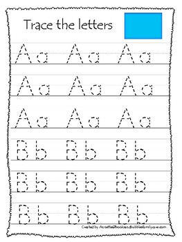 Wyoming State Symbols themed A-Z Tracing Preschool Handwriting Worksheets.