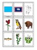 Wyoming State Symbols themed Memory Match Preschool Educational Card Game