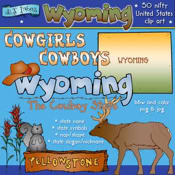 Wyoming USA Clip Art Download