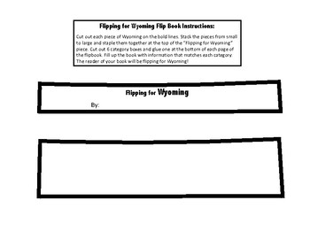 Wyoming Unit Study Flipbook
