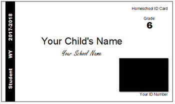 Wyoming (WY) Homeschool ID Cards for Teachers and Students