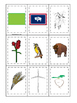 Wyoming themed Memory Matching and Word Matching preschool curriculum game