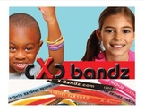X-Bandz 12 multiplication Glow in Dark  learning bandz 1 - 12
