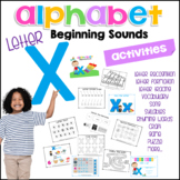 X Beginning Sound Letter of The Week Activity Pack