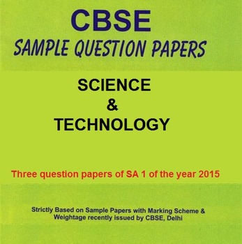 X CBSE SA 1 PAPER SCIENCE & TECHNOLOGY