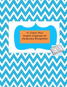 """X, Check, Plus"" Vocabulary Comprehension Graphic Organizer"