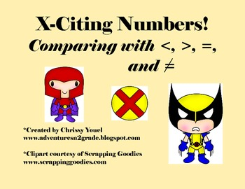 X-Citing Numbers!  Comparing With , =