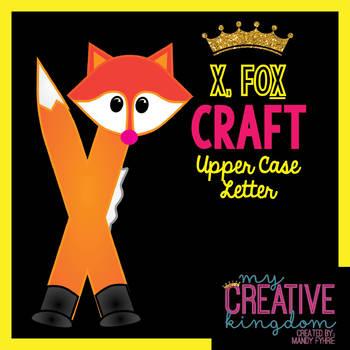 X - FOX Upper Case Capital Alphabet Letter Craft
