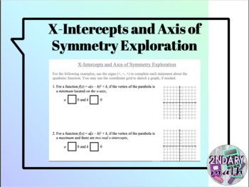 X-Intercepts and Axis of Symmetry Exploration