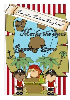 """""""X Marks the Spot"""" Pirate Reading Game"""