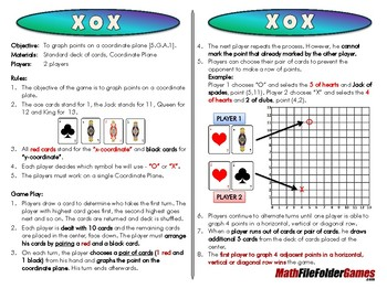 X O X - 5th Grade Game [CCSS 5.G.A.1]