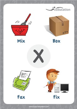 'X' (/ks/) Phonics Resource Package