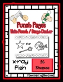 X-Ray Fish - 26 Shapes - Hole Punch Cards / Bingo Dauber Pages *s