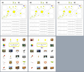 Letters Xx Zz AR ST ER Printing and Picture Find Worksheets
