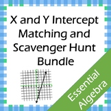 X & Y Intercept Matching and Scavenger Hunt Bundle (CCSS.HSF.IF.B.4)