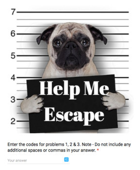 X and Y Intercepts – Bad Dog Breakout for Google Classroom!