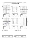 X- and Y-Intercepts Homework