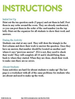 X and Y Intercepts Practice - Around the Room Activity