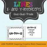 X-Intercepts and Y-Intercepts Quiz Quiz Trade Activity
