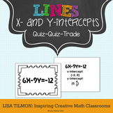 X-Intercepts and Y-Intercepts Quiz Quiz Trade Activity