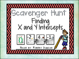 X and Y Intercepts - Scavenger Hunt