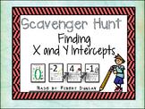 X and Y Intercepts - Scavenger Hunt