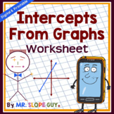 X and Y Intercepts (Graphs) Worksheet