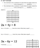 X- and Y-Intercepts and Graphing Guided Notes and Practice