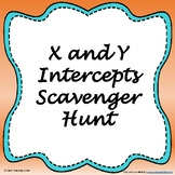 X and Y-intercepts Scavenger Hunt (CCSS.HSF.IF.B.4)