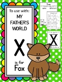 X is for Fox.  To Use with My Father's World.  Alphabet Wo