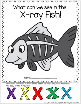 """X"" is for X-Ray Fish Craft and Letter Tracing"