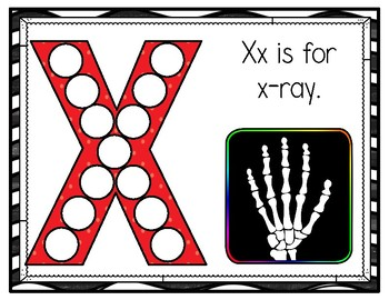 X is for X-ray Activity Pack Alphabet Common Core Preschool Toddler