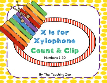 X is for Xylophone Count & Clip 1-20