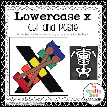 X is for Xylophone Cut and Paste