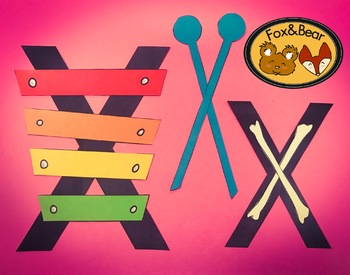 X is for Xylophone and X-ray~ Letter Art