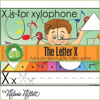 X is for xylophone File Folder Game